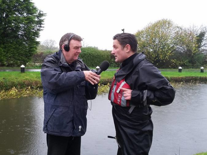 Gilly at Charity Event on Canal