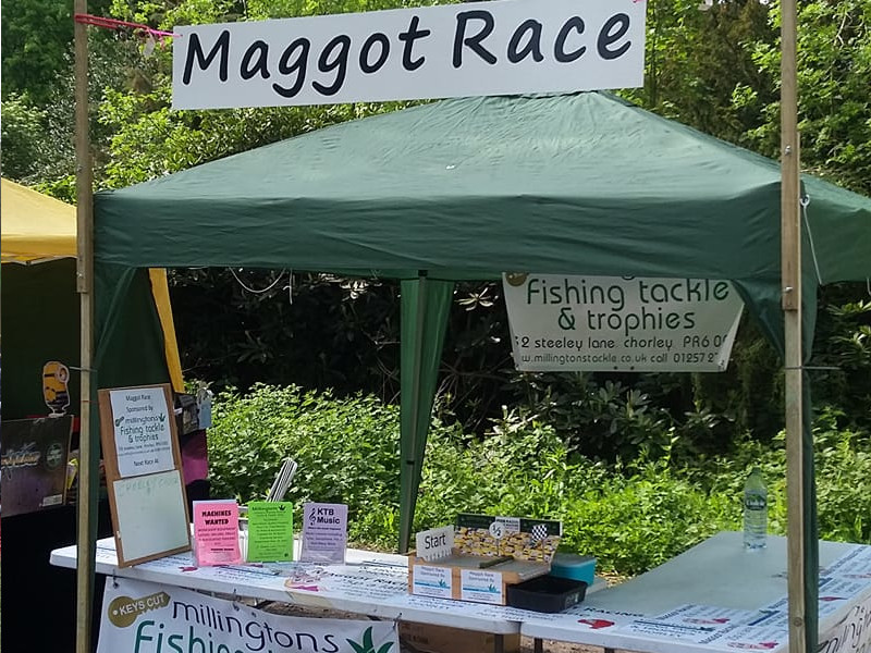 Maggot Racing charity event at Cuerden Valley Park