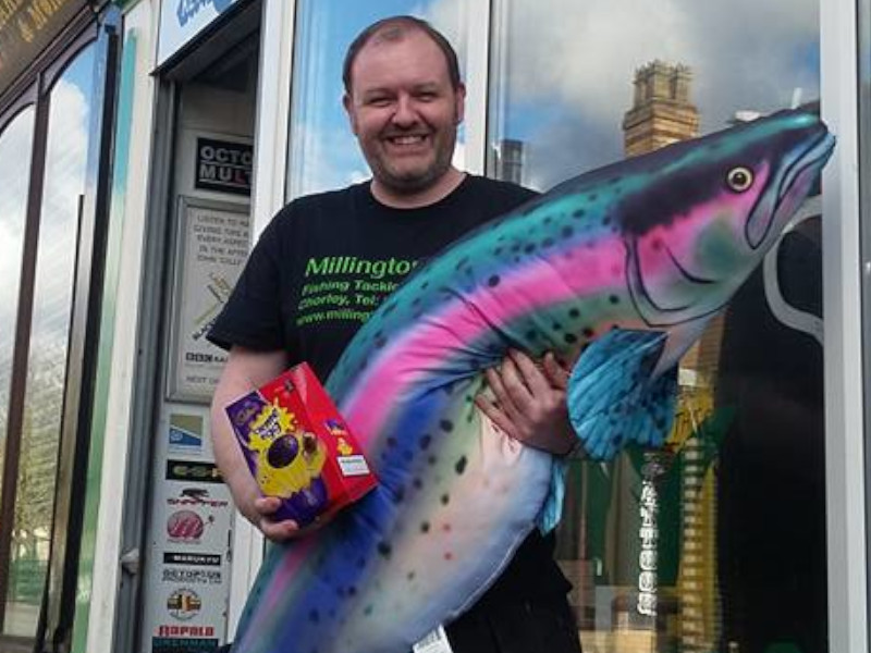 Tommy Trout at the Chorley Shop