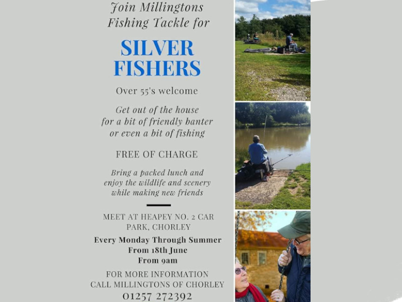 Silver Fishers, over 55, fishing event